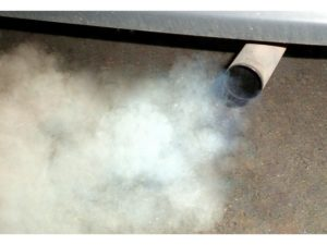 Car exhaust causes smog and adds to global warming [www.TheEnvironmentalBlog.org]
