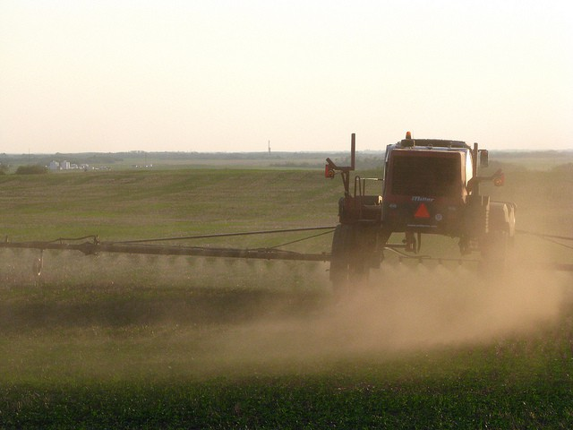Farmers spray crops with poisonous chemicals to kill pests - but this causes chemical pollution [Tamina Miller]