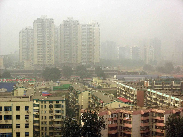 Smog from traffic fumes, Beijing, China [David Barrie]