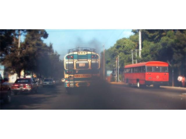 Black smoke from bus, Guatemala [Doron Derek Laor]