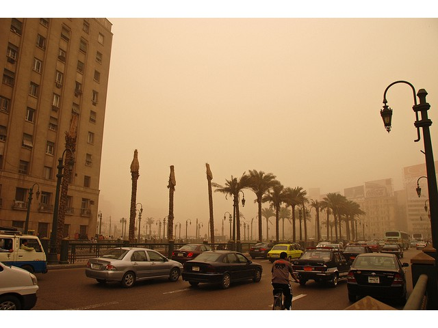 Traffic and pollution, Cairo, Egypt [Kim Eun Yeul World Bank]